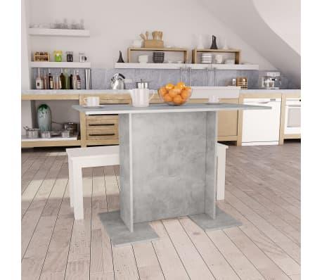 vidaXL Eettafel 110x60x75 cm spaanplaat betongrijs[1/5]