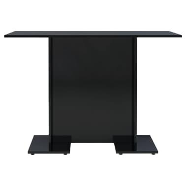 vidaXL Eettafel 110x60x75 cm spaanplaat hoogglans zwart[3/6]