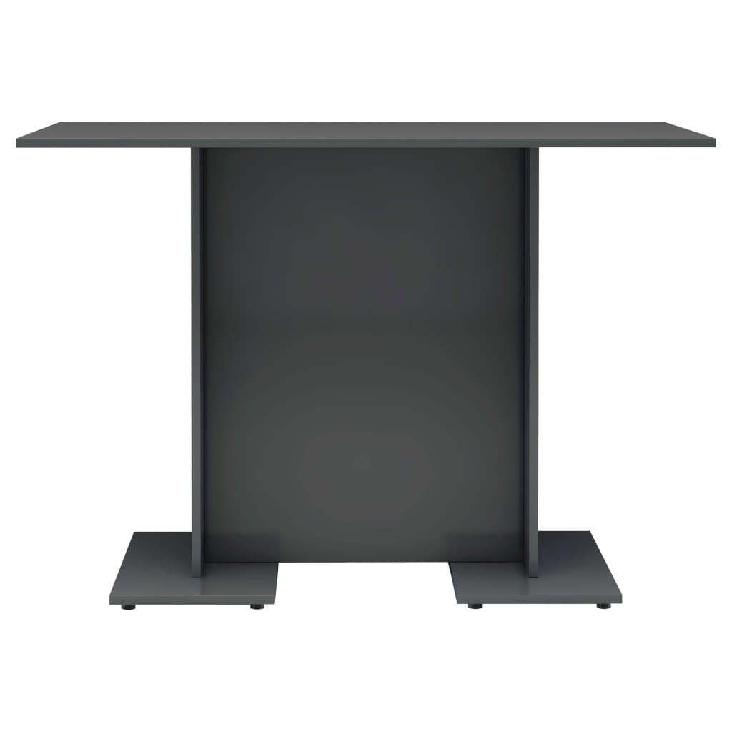 vidaXL Eettafel 110x60x75 cm spaanplaat hoogglans grijs