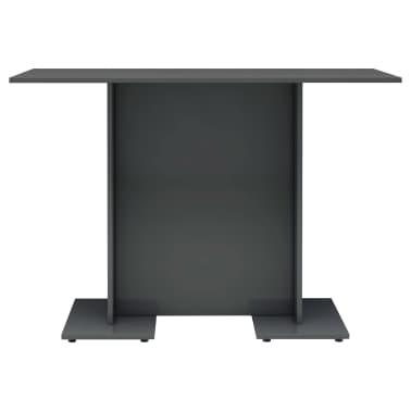 vidaXL Eettafel 110x60x75 cm spaanplaat hoogglans grijs[3/6]