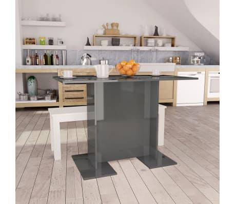 vidaXL Eettafel 110x60x75 cm spaanplaat hoogglans grijs[1/6]