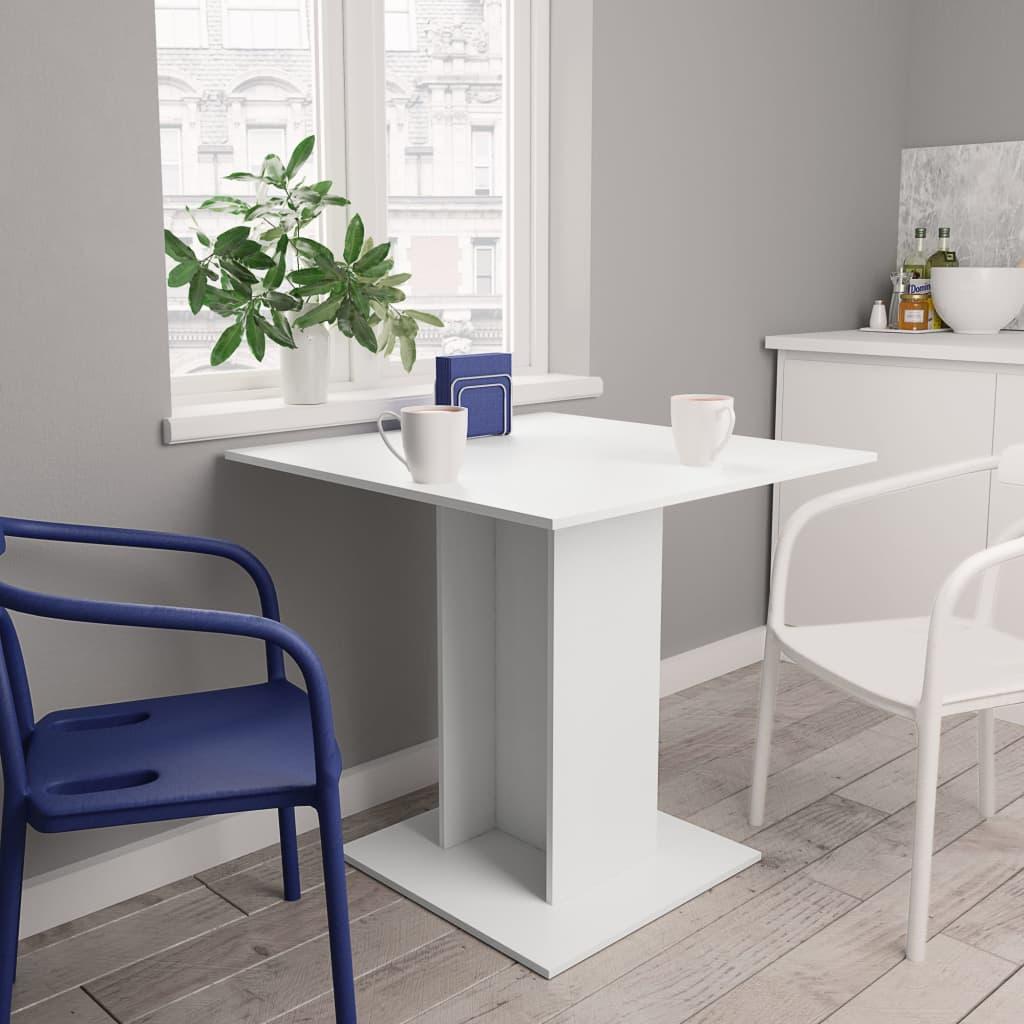 Jídelní stůl bílý 80 x 80 x 75 cm dřevotříska