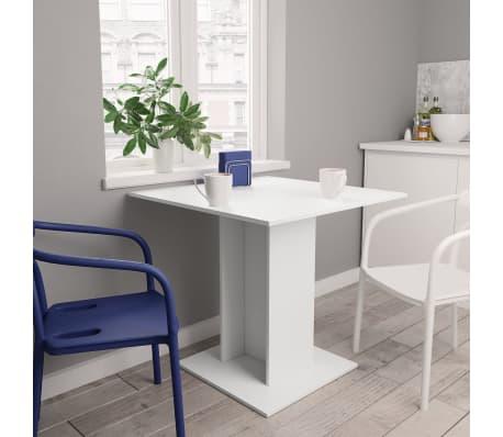 "vidaXL Dining Table White 31.5""x31.5""x29.5"" Chipboard[1/6]"