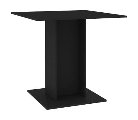 vidaXL Eettafel 80x80x75 cm spaanplaat zwart[2/6]