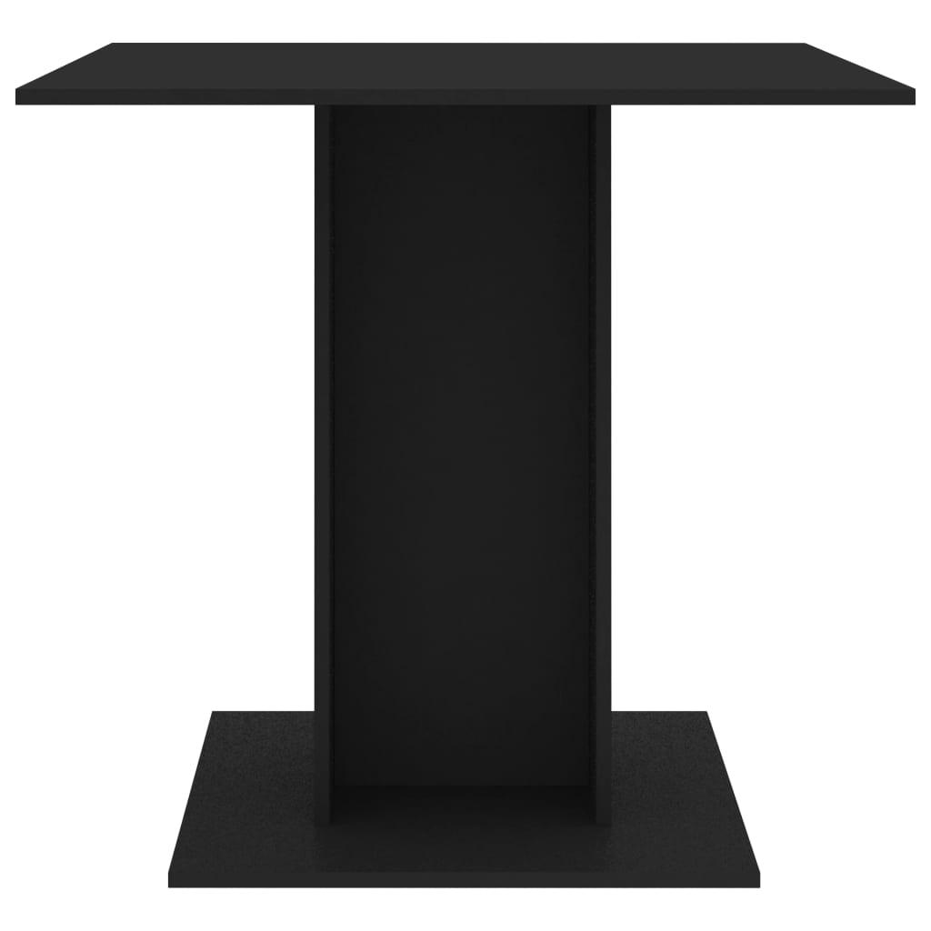 vidaXL Eettafel 80x80x75 cm spaanplaat zwart