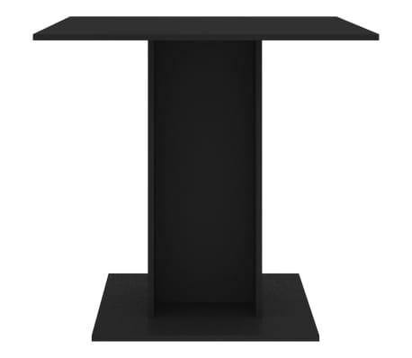 vidaXL Eettafel 80x80x75 cm spaanplaat zwart[3/6]