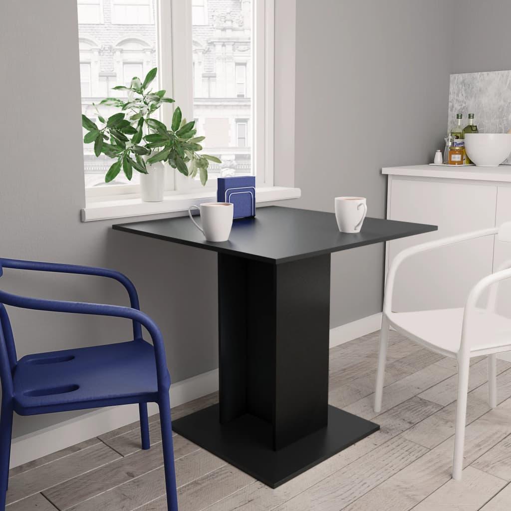 Jídelní stůl černý 80 x 80 x 75 cm dřevotříska