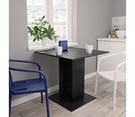 vidaXL Eettafel 80x80x75 cm spaanplaat zwart[1/6]