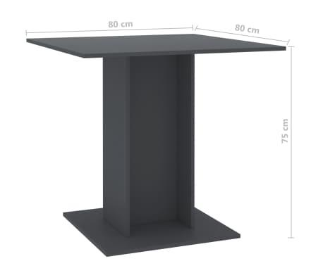 """vidaXL Dining Table Gray 31.5""""x31.5""""x29.5"""" Chipboard[6/6]"""