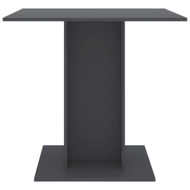 """vidaXL Dining Table Gray 31.5""""x31.5""""x29.5"""" Chipboard[4/6]"""