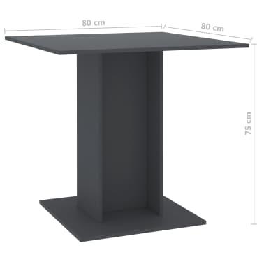 vidaXL Eettafel 80x80x75 cm spaanplaat grijs[6/6]