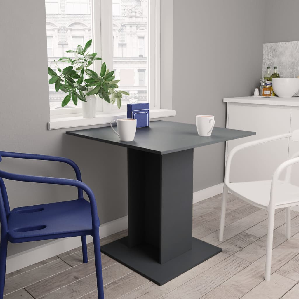 Jídelní stůl šedý 80 x 80 x 75 cm dřevotříska