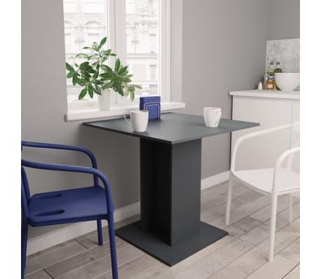 """vidaXL Dining Table Gray 31.5""""x31.5""""x29.5"""" Chipboard[1/6]"""