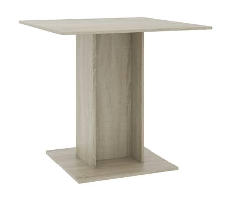 vidaXL Masă de bucătărie, stejar Sonoma, 80 x 80 x 75 cm, PAL