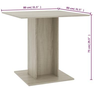 vidaXL Eettafel 80x80x75 cm spaanplaat sonoma eikenkleur[6/6]