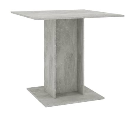 "vidaXL Dining Table Concrete Gray 31.5""x31.5""x29.5"" Chipboard[2/6]"
