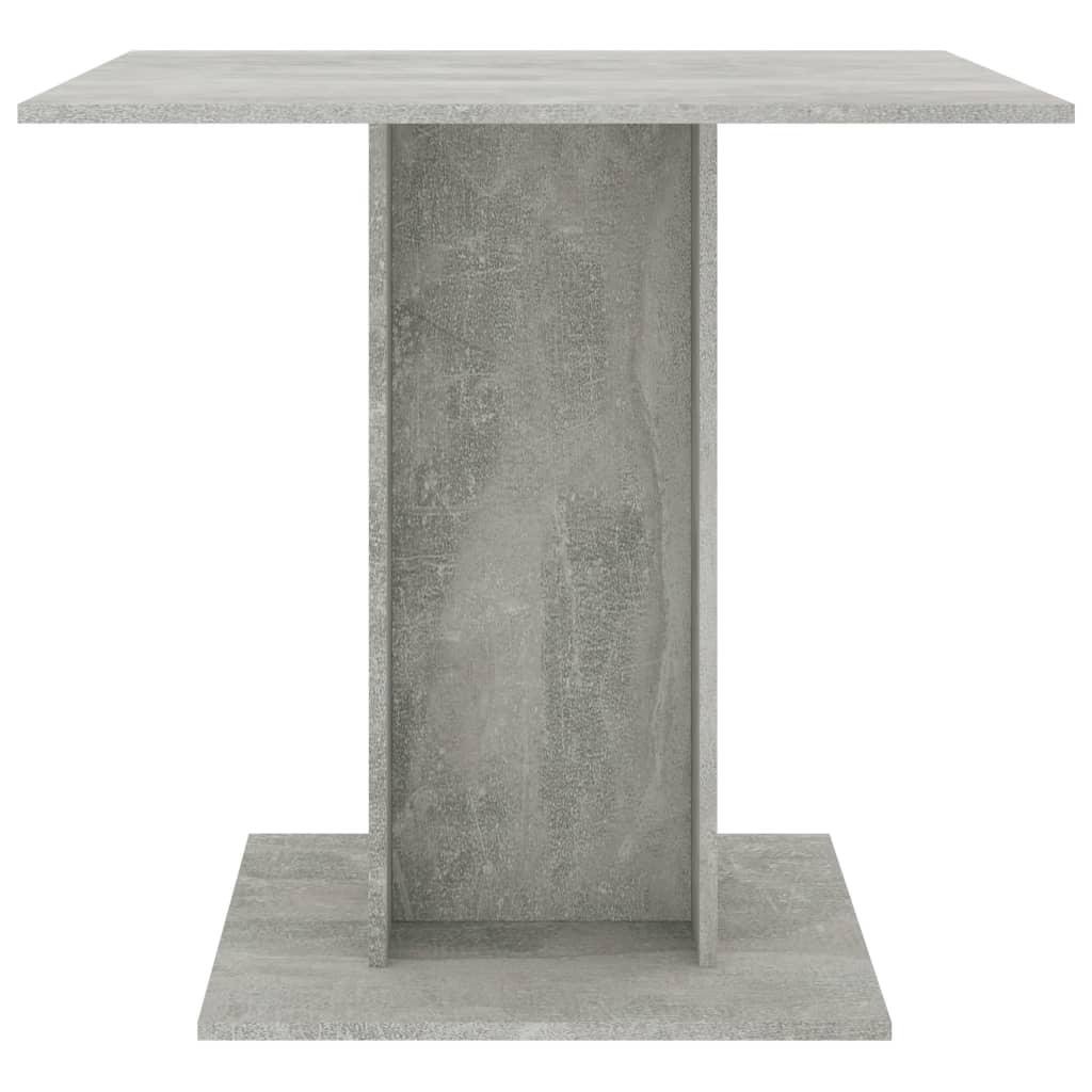 vidaXL Eettafel 80x80x75 cm spaanplaat betongrijs