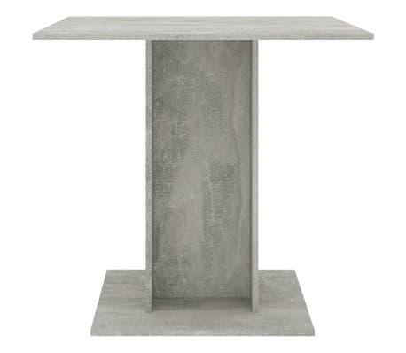 "vidaXL Dining Table Concrete Gray 31.5""x31.5""x29.5"" Chipboard[3/6]"