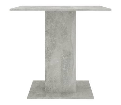 "vidaXL Dining Table Concrete Gray 31.5""x31.5""x29.5"" Chipboard[4/6]"