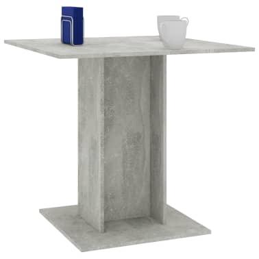 "vidaXL Dining Table Concrete Gray 31.5""x31.5""x29.5"" Chipboard[5/6]"