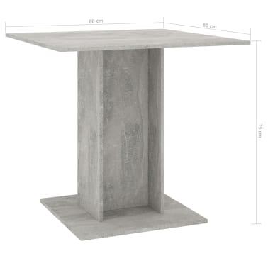 "vidaXL Dining Table Concrete Gray 31.5""x31.5""x29.5"" Chipboard[6/6]"