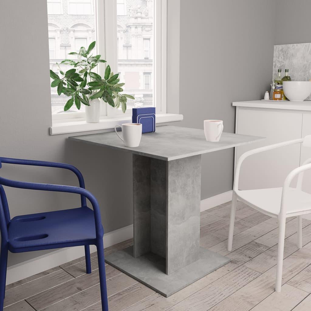 Jídelní stůl betonově šedý 80 x 80 x 75 cm dřevotříska
