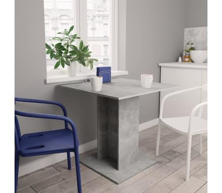 "vidaXL Dining Table Concrete Gray 31.5""x31.5""x29.5"" Chipboard[1/6]"