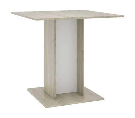 """vidaXL Dining Table White and Sonoma Oak 31.5""""x31.5""""x29.5"""" Chipboard[2/6]"""