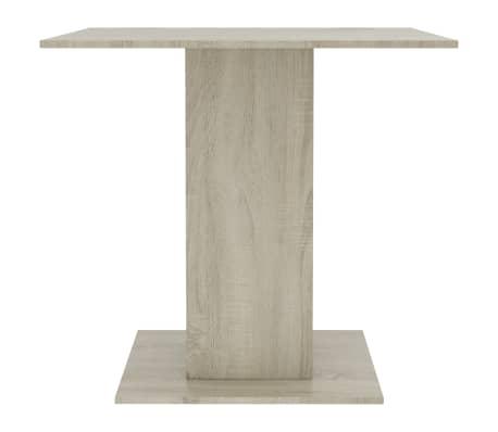 vidaXL Eettafel 80x80x75 cm spaanplaat wit en sonoma eikenkleur[4/6]
