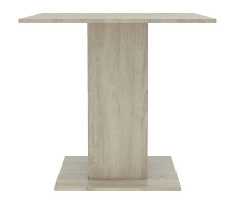 """vidaXL Dining Table White and Sonoma Oak 31.5""""x31.5""""x29.5"""" Chipboard[5/6]"""