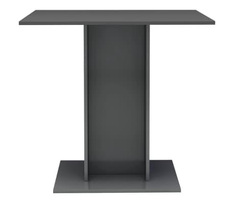 vidaXL Eettafel 80x80x75 cm spaanplaat hoogglans grijs[3/6]