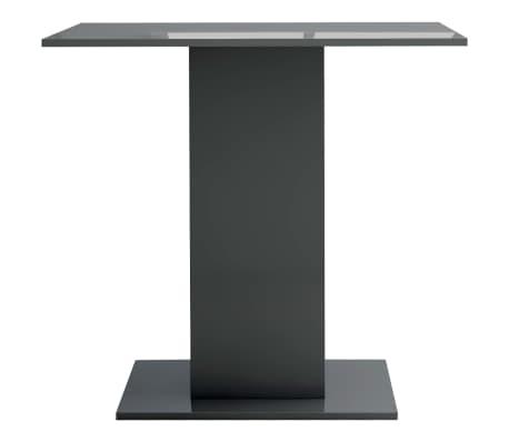 vidaXL Eettafel 80x80x75 cm spaanplaat hoogglans grijs[4/6]