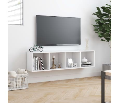 "vidaXL Book Cabinet/TV Cabinet White 56.3""x11.8""x14.2""[4/6]"