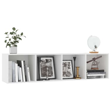 "vidaXL Book Cabinet/TV Cabinet White 56.3""x11.8""x14.2""[5/6]"