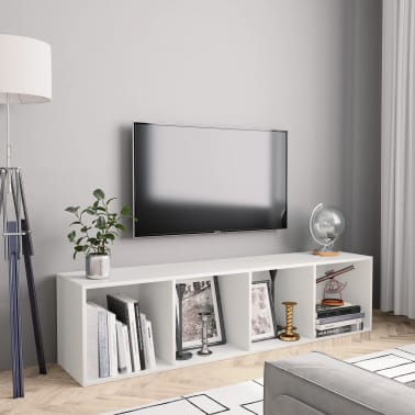 "vidaXL Book Cabinet/TV Cabinet White 56.3""x11.8""x14.2""[1/6]"