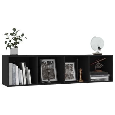 "vidaXL Book Cabinet/TV Cabinet Black 56.3""x11.8""x14.2""[5/6]"