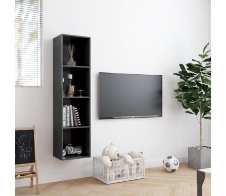 "vidaXL Book Cabinet/TV Cabinet Gray 56.3""x11.8""x14.2""[3/6]"