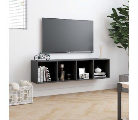 "vidaXL Book Cabinet/TV Cabinet Gray 56.3""x11.8""x14.2""[4/6]"