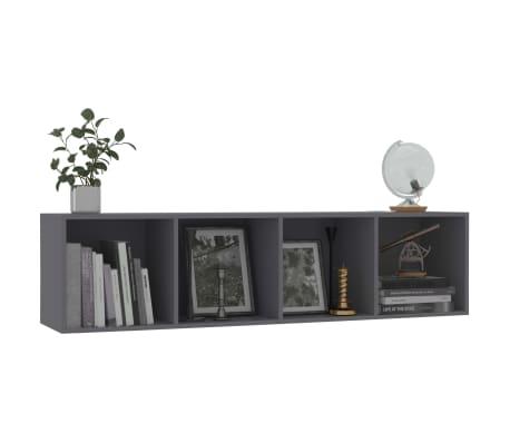 "vidaXL Book Cabinet/TV Cabinet Gray 56.3""x11.8""x14.2""[5/6]"