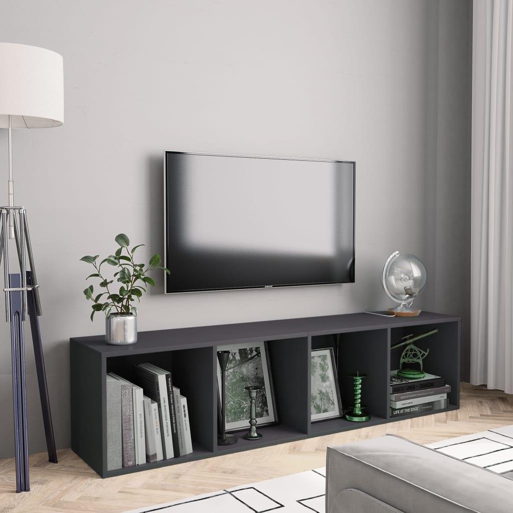 vidaXL Regał na książki/szafka TV, szary, 143x30x36 cm