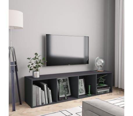 "vidaXL Book Cabinet/TV Cabinet Gray 56.3""x11.8""x14.2""[1/6]"