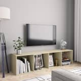 vidaXL Book Cabinet/TV Cabinet Sonoma Oak 143x30x36 cm