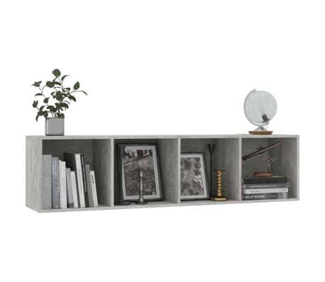"vidaXL Book Cabinet/TV Cabinet Concrete Gray 56.3""x11.8""x14.2""[5/6]"