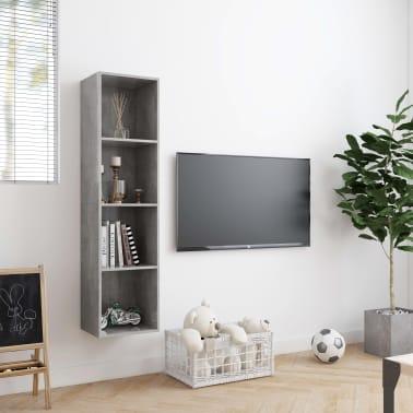 "vidaXL Book Cabinet/TV Cabinet Concrete Gray 56.3""x11.8""x14.2""[3/6]"