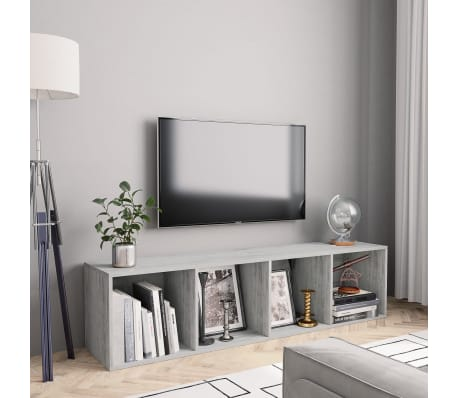 "vidaXL Book Cabinet/TV Cabinet Concrete Gray 56.3""x11.8""x14.2""[1/6]"