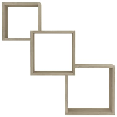 "vidaXL Cube Wall Shelves Sonoma Oak 33.3""x5.9""x10.6"" Chipboard[4/6]"