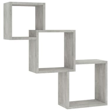 "vidaXL Cube Wall Shelves Concrete Gray 33.3""x5.9""x10.6"" Chipboard[2/6]"