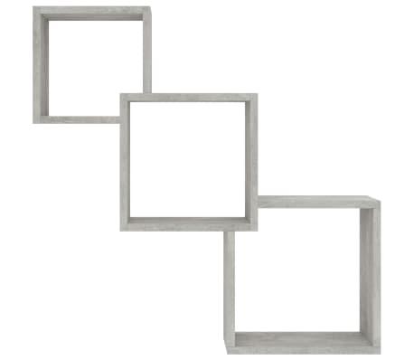 "vidaXL Cube Wall Shelves Concrete Gray 33.3""x5.9""x10.6"" Chipboard[4/6]"