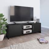vidaXL Tv-meubel 120x30x37,5 cm spaanplaat zwart