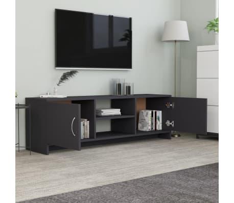 "vidaXL TV Cabinet Gray 47.2""x11.8""x14.8"" Chipboard[3/6]"